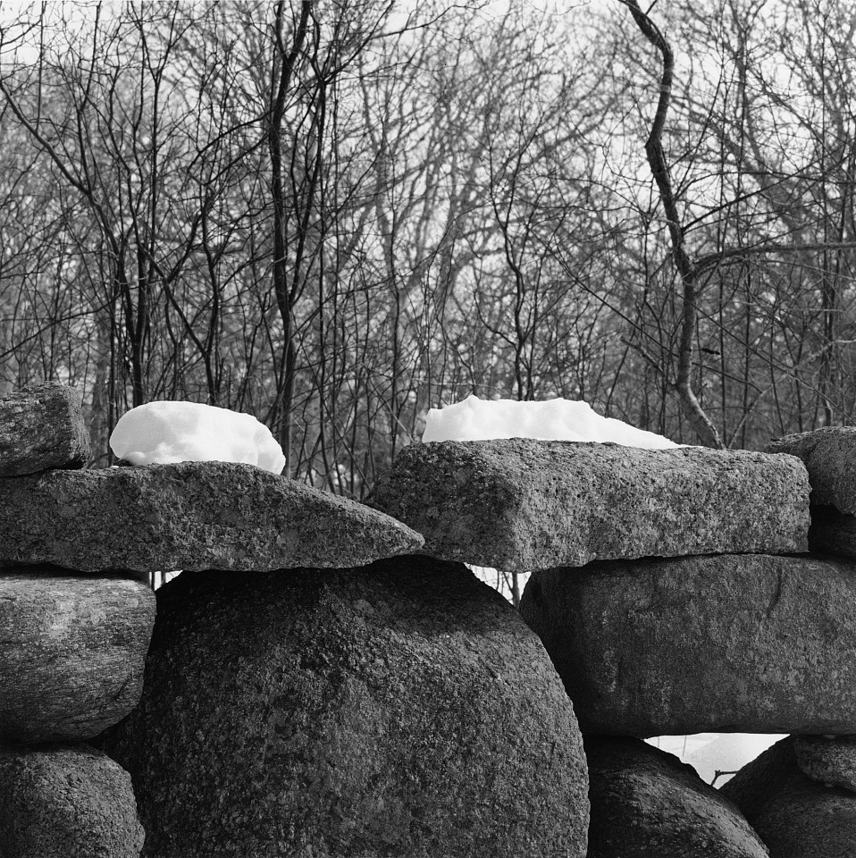 Mariana Cook ,   Wall Detail in Snow, Chilmark, Massachusetts  ,  2003     Gelatin silver print ,  15 1/16 x 15 1/16 in.     Signed, dated, titled & numbered on verso of mount in edition of 6; mat size: 30 x 24