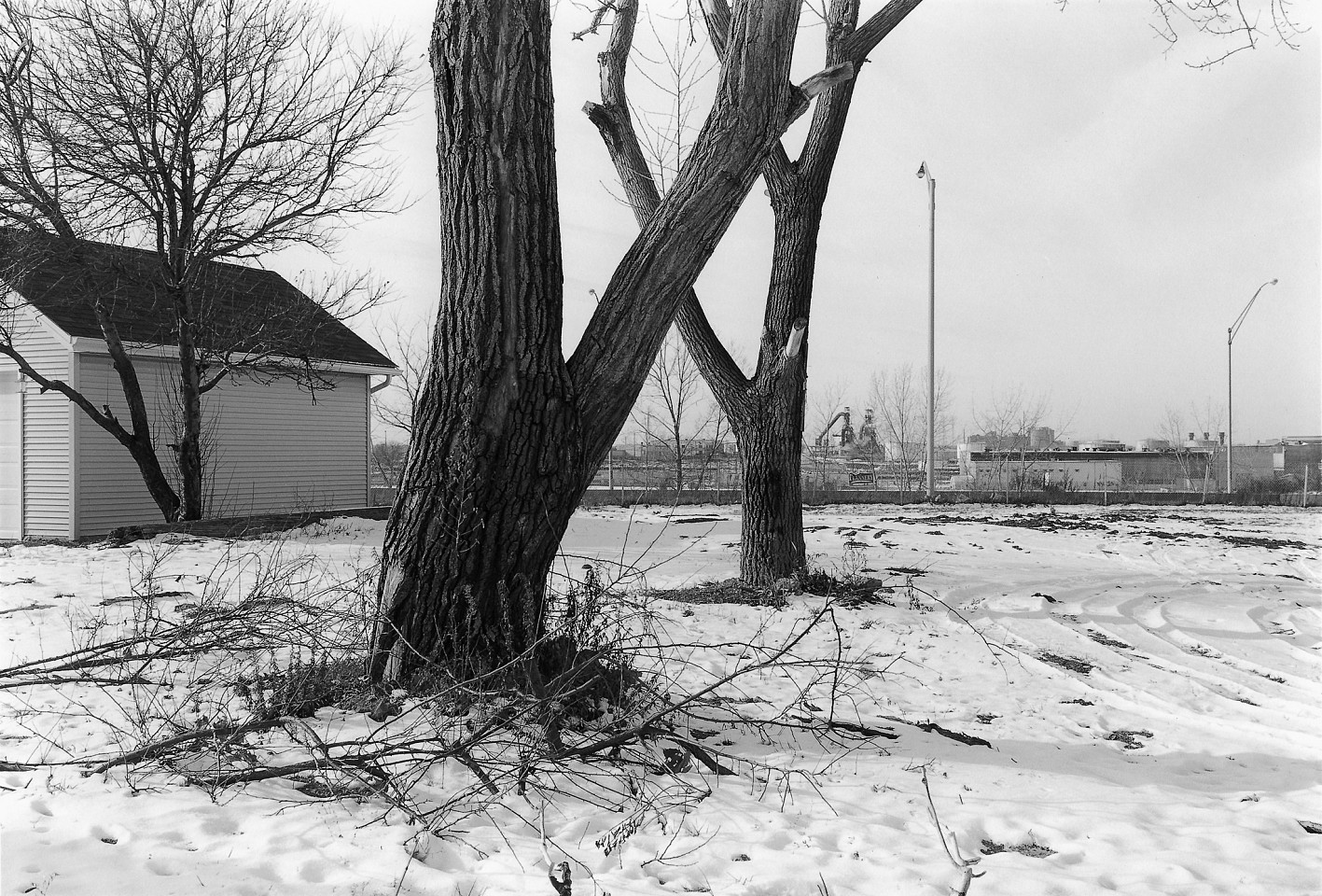 Andrew Borowiec ,   Barkwill Avenue, Slavic Village, Cleveland  ,  2002     Gelatin silver print ,  16 x 20 in.     Verso: signed, titled, dated & numbered in edition of 10 © Andrew Borowiec     $2,500